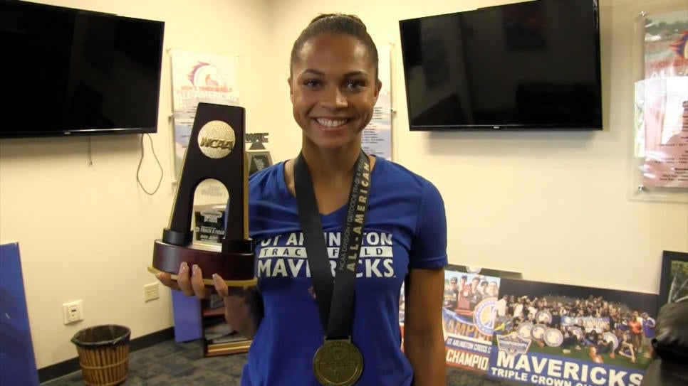 Henry becomes the first woman to win an individual championship in UTA history.