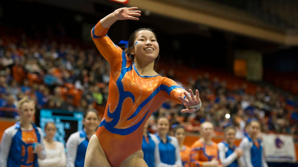 Bronco Gymnastics Hosts Utah State
